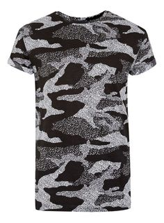 Black and White Camo Muscle Fit T-Shirt T Shirt Vest, Tank Shirt, Asos, Exercise During Pregnancy, Camouflage, Topshop, Basic Style, Mens Fitness, Mens Tees