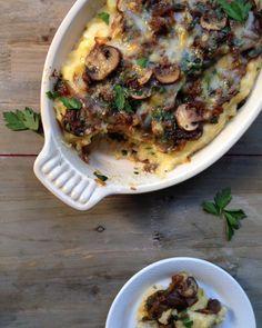 Truffle Mushroom Polenta Gratin Recipe