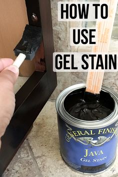 How to use Gel Stain -update old cabinets without sanding, Diy And Crafts, Wow! No sanding! No stripping? This is amazing! How to use gel stain and update old cabinets. Full step by step tutorial with video. Gel Stain Furniture, Furniture Projects, Furniture Makeover, Diy Furniture, Painting Laminate Furniture, Furniture Refinishing, Repurposed Furniture, Old Cabinets, How To Stain Cabinets