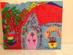 la  casa de abuela!!! painting by Helen