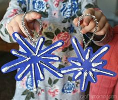 q-tip snowflake ornaments for kids