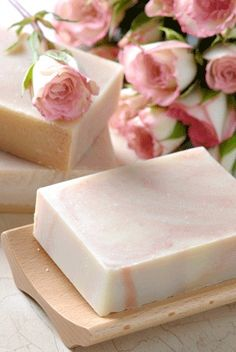 Lovely rose scented soap