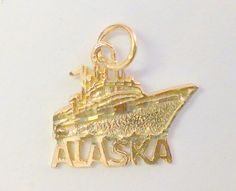 Vintage 14k Yellow Gold Alaska Cruise Charm / by TrendyTreasures1