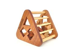 Personalized Shape Sorter Toy - Montessori Inspired Wooden Toy for a Baby or a Toddler - Eco-Friendly Sorting Game - Organic Wood Toy. $50.00, via Etsy.