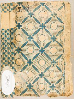 Papier dominoté avec maculatures d'imprimerie. XVIIIe s.