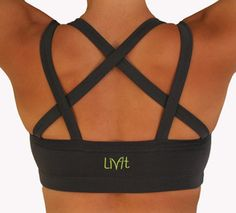 Endurance Bra charcoal color Livfit.com Clearance right now for $20! I totally want this one!