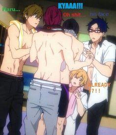 Makoto, Rin, Haruka, Nagisa and Rei