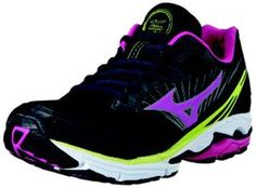 Mizuno Women's Wave Rider 16 Running Shoe,Black,11 B US $114.95 #Shoes #Mizuno