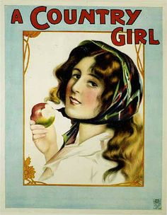 """1902 Original """"A Country Girl"""" Vintage British Theater Poster"""