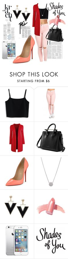 """""""Don't"""" by meechiee ❤ liked on Polyvore featuring Chicwish, Christian Louboutin and Elizabeth Arden"""