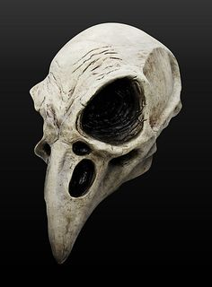 Raven Skull Latex Full Mask