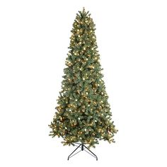 Slim Green Ashley Artificial Christmas Trees - Treetime Prelit ...