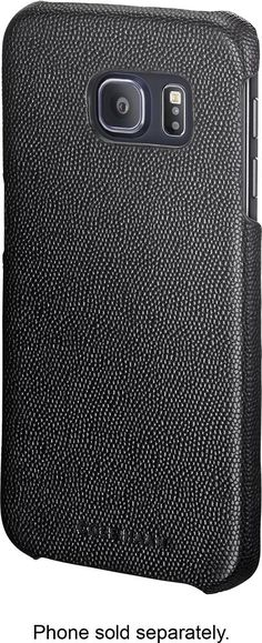 Cole Haan - Caviar Texture Case for Samsung Galaxy S6 edge Cell Phones - Black, 16CHRM71016-BLK