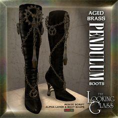 TLG - Aged Brass Pendulum Boots