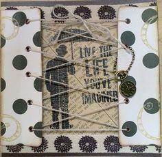 male card - umbrella man Charles Chaplin