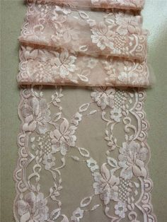 "Blush pink lace runner, 8"" ,wedding table runner , lace table runner,  wedding runners, lace table runner  R15051103 by WeddingTableRunners on Etsy https://www.etsy.com/listing/246098691/blush-pink-lace-runner-8-wedding-table"