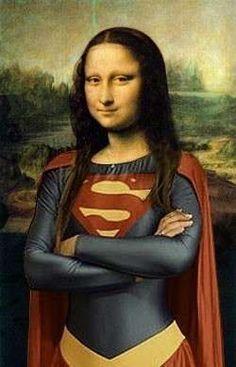 mona-lisa-superman.jpg (250×389)➕More Pins Like This At FOSTERGINGER @ Pinterest✖️