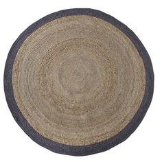 WOOOD vloerkleed sisal naturel met grijze rand rond 200 cm | Vloerkleden kant & klaar | Vloerkleden | Vloeren | KARWEI