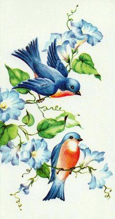 Bluebird Tattoo, Tattoo Bird, Branch Tattoo, Tattoo Animal, Happy Mom Day, Art Vintage, Bird Drawings, Tattoo Drawings, Bird Illustration