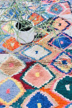 new arrivals: moroccan boucherouite rugs