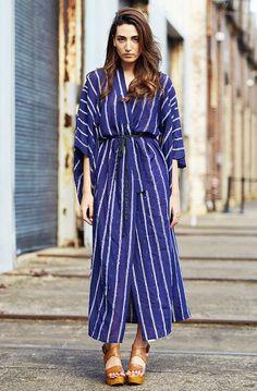 Modern Minimal blue stripe dress