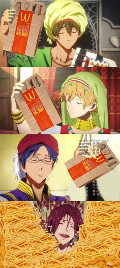 I died XD [Free! - Iwatobi Swim Club] no mc. Donald fries :(