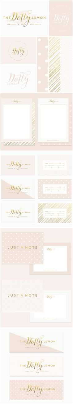 www.brandmebeautiful.co.uk | enquiries@brandmebeautiful.co.uk | The Dotty Lemon Rebrand #branding #brand #branddesign #pink #gold #blush nude polkadots #logo #design