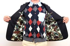 Argyle Knit Shirt by CDG Homme