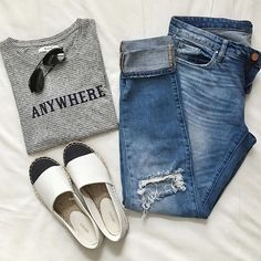 I'd go anywhere in this casual outfit: www.liketk.it/2bx3q