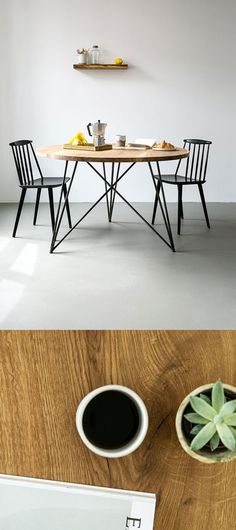 NUTSANDWOODS – Oak Steel Table Round                                                                                                                                                                                 Mehr