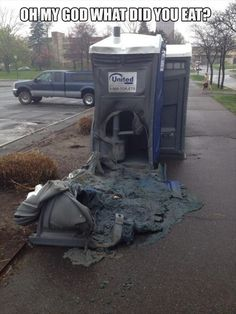 Funny portable toilet picture. OMG What did you eat.