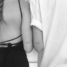 each other's birth year >> friendship tattoo, years #jonboytattoo #ink #inked #tattoo #black #years #friendship #matchingtattoos #coupletattoos #couple #sisters #friends
