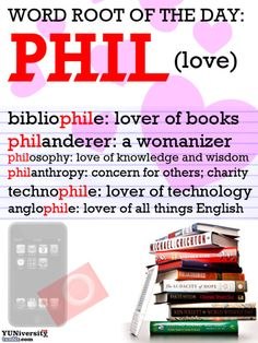 "The YUNiversity - Word Root of the Day: ""PHIL"" (Love)"