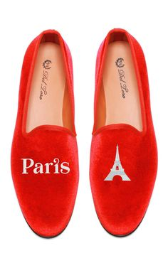 Perfect for Xmas!! Shop Del Toro Prince Albert Paris | Eiffel Tower Slipper Loafers at Moda Operandi