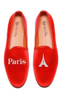 Perfect for Xmas! Shop Del Toro Prince Albert Paris Eiffel Tower Slipper Loafers at Moda Operandi Ballerinas, Red Shoes, Me Too Shoes, Flat Shoes, Shoe Boots, Shoe Bag, Shoe Closet, Smoking Slippers, Paris Eiffel Tower
