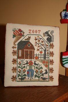 Autumn flat fold cross stitch gift