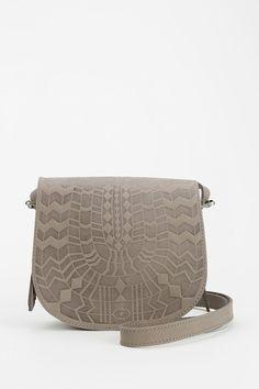 Ecote Tula Embossed Leather Saddle Bag