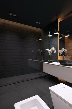 Modern Apartment Bathroom Designs Ideas For Men 13 – Home Design Apartment Bathroom Design, Modern Bathroom Design, Bathroom Interior Design, Bathroom Designs, Modern Interior, Bathroom Ideas, Bathroom Hacks, Bathroom Organization, Apartment Ideas