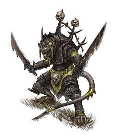 Skaven with heavy armor, Tim Remin Fantasy Battle, Fantasy Races, Fantasy Rpg, Dark Fantasy, Fantasy Character Design, Character Art, Warhammer Skaven, Warhammer Fantasy Roleplay, Dnd Art
