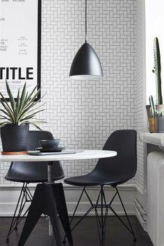 Superb Muster Schwarz Wei wandgestaltung mit Farbe schwarz wei wohnzimmer einrichten weiss schwarz grafisch
