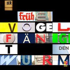 Der frühe Vogel fängt den ... #lebensweisheit #words #goals #germany #worldwide #austria #swiss #poetry #urbanpoetry #berlin #wien #zürich