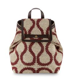 White/Red Horse Brass Jacquard Bag 13715