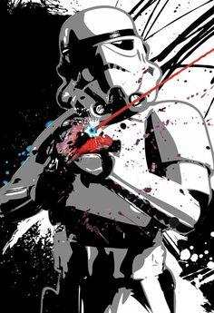 Star Wars Stormtrooper poster sized Pop Art print illustration size 13x19. $50.00, via Etsy.