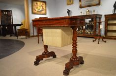 A Superb Flame Mahogany Regency/William IV Period Antique Work Table
