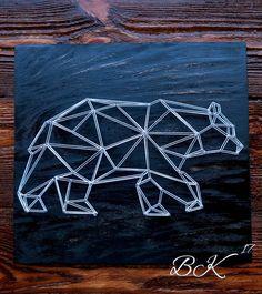 Изонить медведь схема