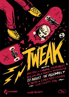 Tweak Poster on Behance -- Event Flyer Design Ideas & Templates Event Poster Design, Graphic Design Posters, Graphic Design Illustration, Graphic Design Inspiration, Illustration Art, Album Design, Design Layouts, Brochure Design, Design Ideas