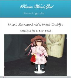 This adorable pleated, red and tan checked dress, is very similar to the Meet outfit on the original American Girl Doll. I love the dropped