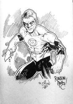 Green Lantern by Ransom Getty
