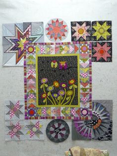 Love this center medallion layout with surrounding stars - Material Obsession