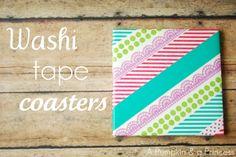 Make washi tape coasters: http://apumpkinandaprincess.com/2012/04/washi-tape-coasters.html